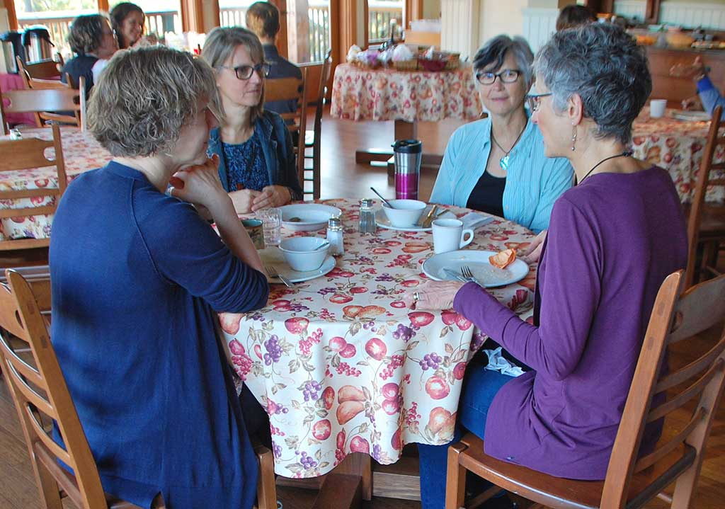 ASD - women sharing a meal